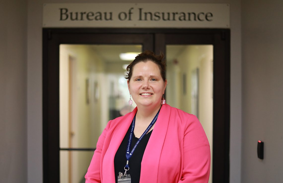Sandra Darby Darby, UMF 2009 graduate, is pursuing her master's degree, and is currently a Property & Casualty Actuary with the Maine Bureau of Insurance. She has returned to Farmington a number of times to promote the actuarial career path and to share with students the role of regulators in the business world.