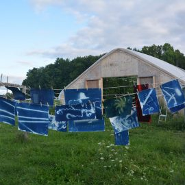 """UMF Emery Community Arts Center features The """"Farm Tools Project,"""" a visual exploration of the use of hand tools on small farms by Michel Droge and Sarah Loftus."""