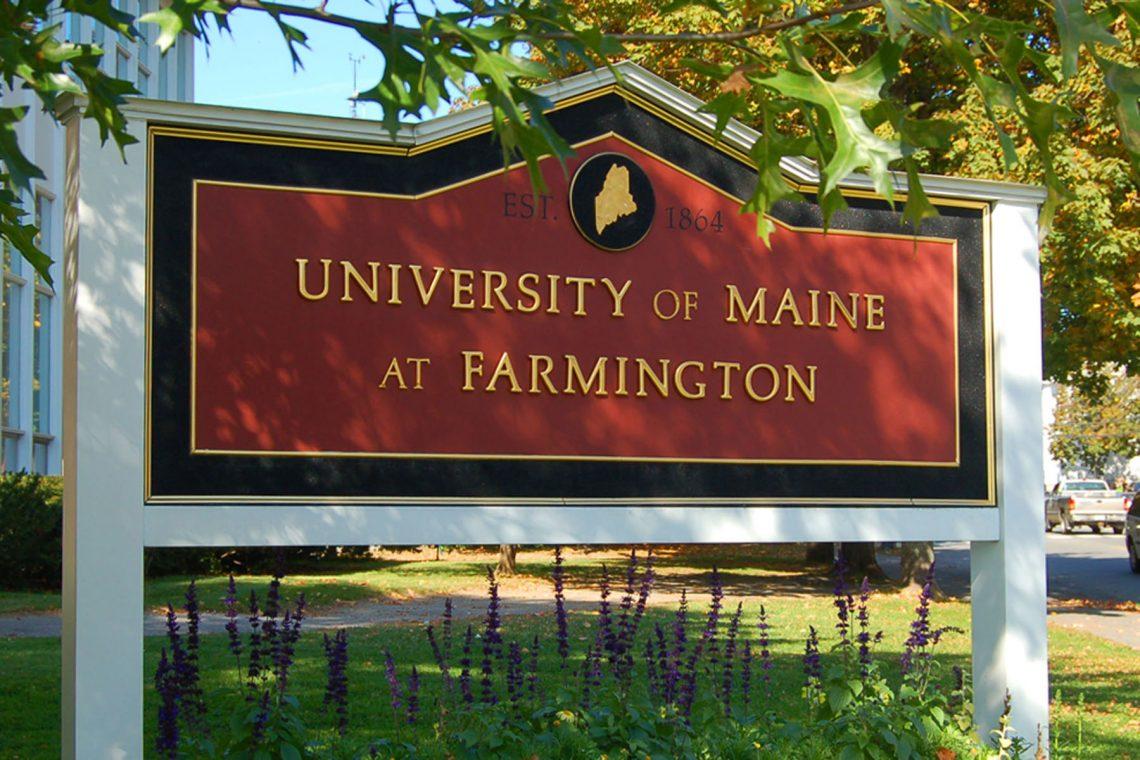 University of Maine at Farmington sign