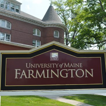 UMF Merrill Hall and Sign