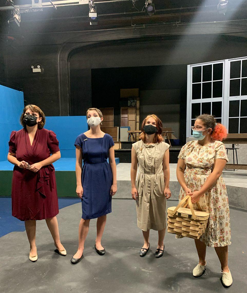 (Left to right) Emalyn Remington, Simoane Lowell, Tess Gioia and Audrey Bradbury